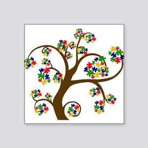 "Puzzled Tree of Life Square Sticker 3"" x 3"""