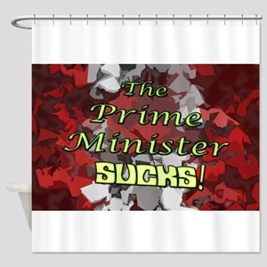 The Prime Minister Sucks Shower Curtain