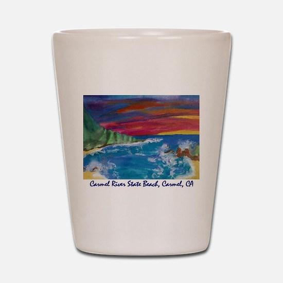 Carmel State Beach, Carmel CA 700.jpg Shot Glass