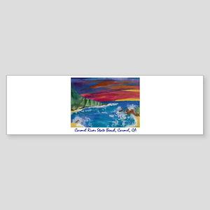 Carmel State Beach, Carmel CA 700 Sticker (Bum