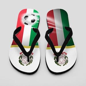 Italy Italian Italia Football Soccer Flip Flops