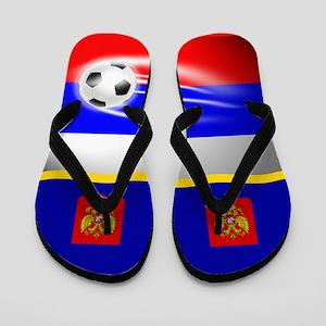 Russian Russia Football Soccer Flip Flops