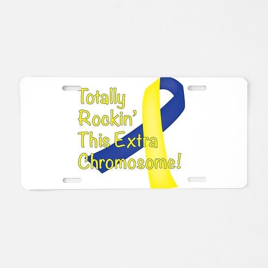Rockin Chromosome Aluminum License Plate