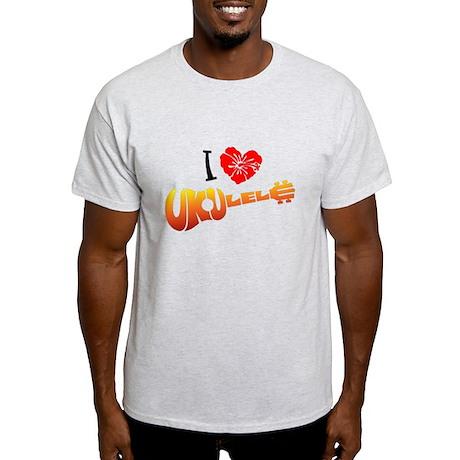 I Love Ukulele Light T-Shirt