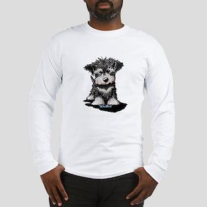 KiniArt Schnauzer Pup Long Sleeve T-Shirt