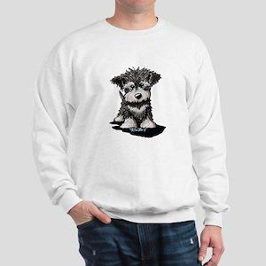 KiniArt Schnauzer Pup Sweatshirt