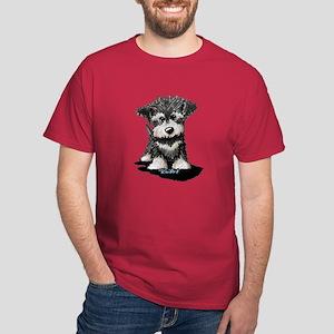 KiniArt Schnauzer Pup Dark T-Shirt