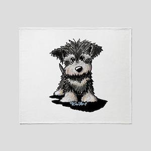 KiniArt Schnauzer Pup Throw Blanket