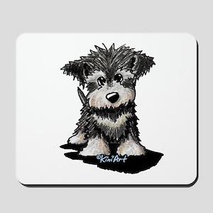 KiniArt Schnauzer Pup Mousepad