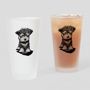 KiniArt Schnauzer Pup Drinking Glass
