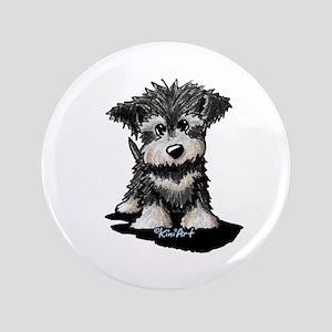 "KiniArt Schnauzer Pup 3.5"" Button"