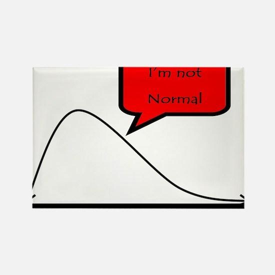 I'm not normal! Rectangle Magnet