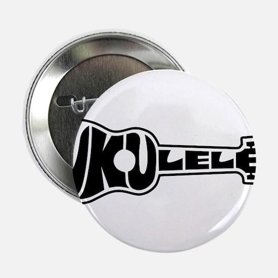 """Ukulele Logo 2.25"""" Button"""