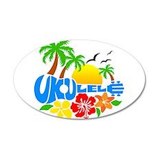 Ukulele Island Logo Wall Sticker