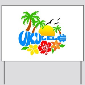 Ukulele Island Logo Yard Sign