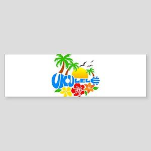 Ukulele Island Logo Sticker (Bumper)