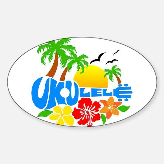 Ukulele Island Logo Sticker (Oval)