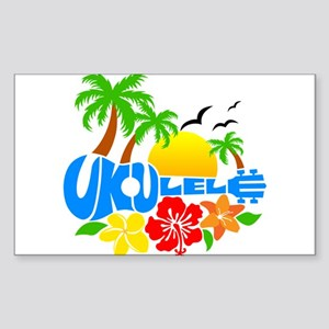 Ukulele Island Logo Sticker (Rectangle)