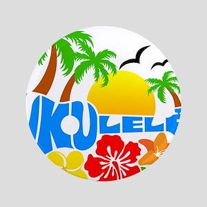 """Ukulele Island Logo 3.5"""" Button"""