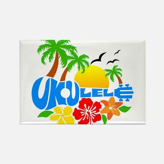 Ukulele Island Logo Rectangle Magnet