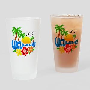 Ukulele Island Logo Drinking Glass