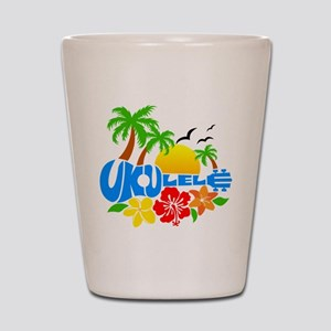 Ukulele Island Logo Shot Glass