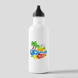 Ukulele Island Logo Stainless Water Bottle 1.0L
