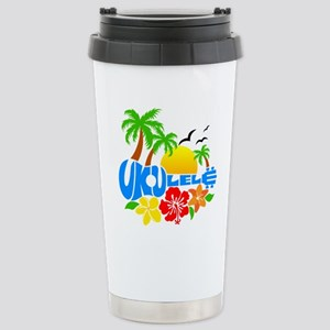 Ukulele Island Logo Stainless Steel Travel Mug