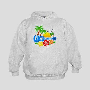 Ukulele Island Logo Kids Hoodie