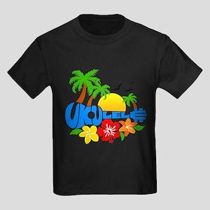 Ukulele Island Logo Kids Dark T-Shirt