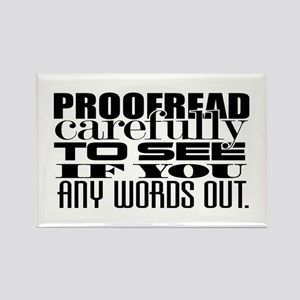 Proofread Rectangle Magnet