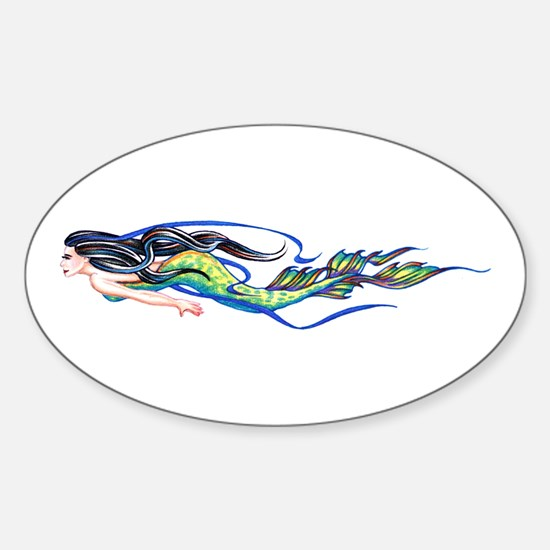 Mermaid Oval Decal