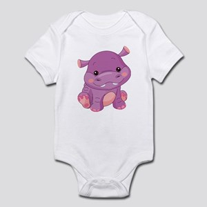 Cute Baby Hippo Infant Bodysuit