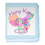 Hong Kong Map baby blanket