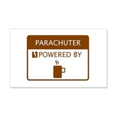 Parachuter Powered by Coffee Wall Decal