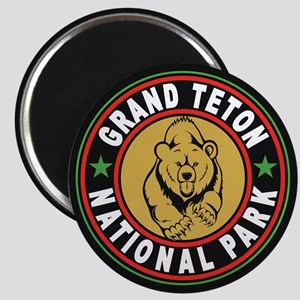 Grand Teton Black Circle Magnet