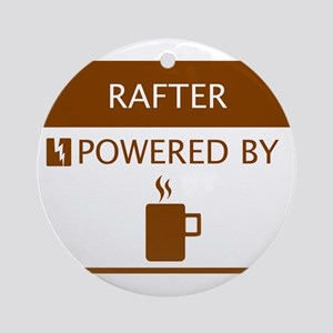 Rafter Powered by Coffee Ornament (Round)