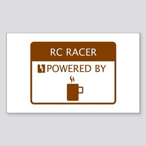 RC Racer Powered by Coffee Sticker (Rectangle)