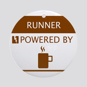 Runner Powered by Coffee Ornament (Round)