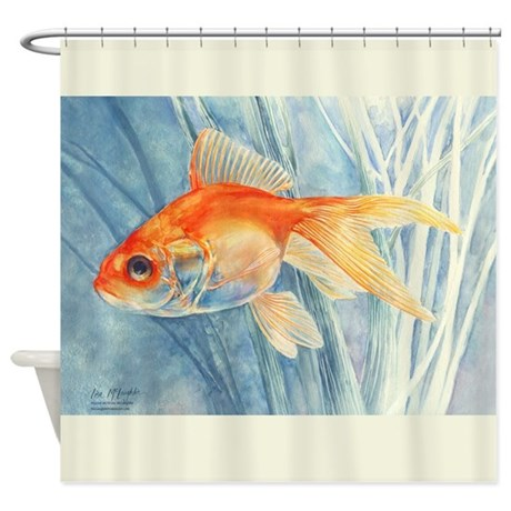 Goldfish Shower Curtain By McLaughlinWatercolor