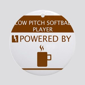 Slow Pitch Softball Player Powered by Coffee Ornam