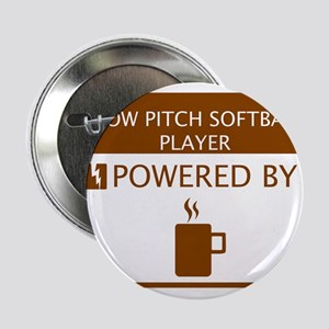 """Slow Pitch Softball Player Powered by Coffee 2.25"""""""