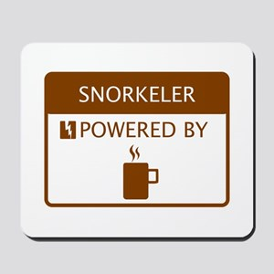 Snorkeler Powered by Coffee Mousepad