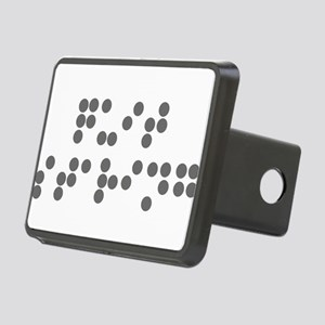 Braille Quit Staring Rectangular Hitch Cover