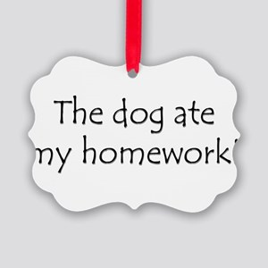 DogHomework Picture Ornament