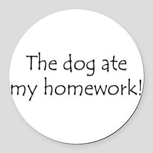 DogHomework Round Car Magnet