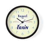 Travel by Train Wall Clock