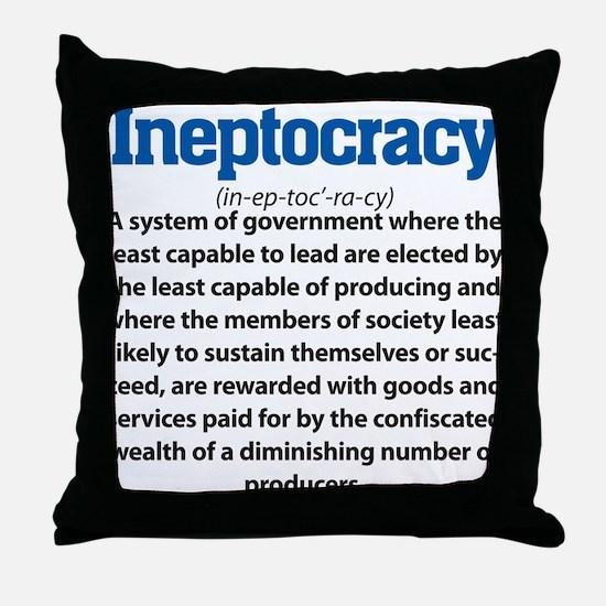 Ineptocracy Throw Pillow