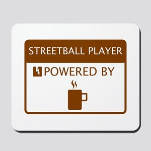 Streetball Player Powered by Coffee Mousepad