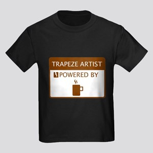 Trapeze Artist Powered by Coffee Kids Dark T-Shirt